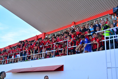 Lincoln Red Imps completed their triple crown in the first season in which the Gibraltar Football Association played as a member of UEFA by beating Colleg 1-0 in the final minute of the Rock Cup Final. The presence of UEFA president Micehl Platini saw the stands full to near capacity.