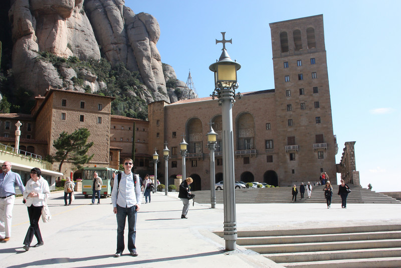 Jared in front of the monastery.