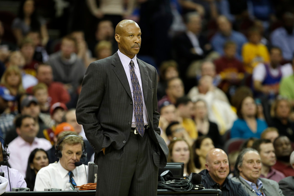 . Cleveland Cavaliers head coach Byron Scott during an NBA basketball game against the Miami Heat Monday, April 15, 2013, in Cleveland. (AP Photo/Mark Duncan)