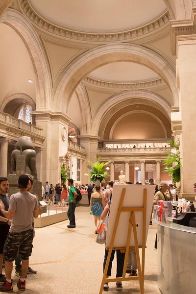Main lobby of the Metropolitan Museum of Art, New York