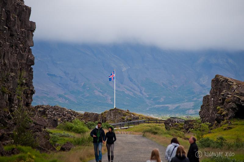 Between Tectonic Plate Thinkgvellir National Park