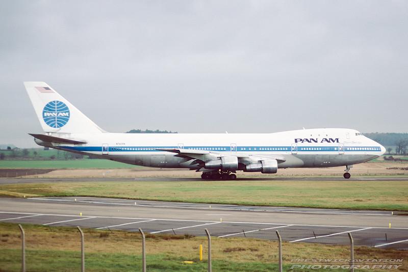 N743PA. Boeing 747-121. Pan Am. Prestwick. November. 1988.