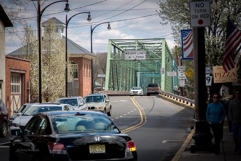 East on Bridge Street, New Hope, PA