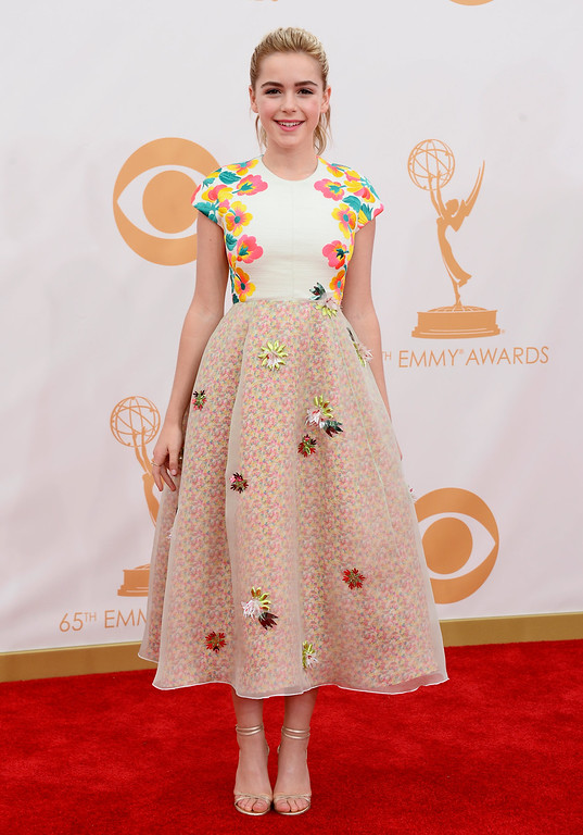 . Actress Kiernan Shipka arrives at the 65th Annual Primetime Emmy Awards held at Nokia Theatre L.A. Live on September 22, 2013 in Los Angeles, California.  (Photo by Frazer Harrison/Getty Images)