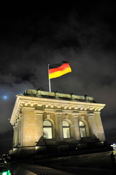 On the roof of the Reichstag, Berlin.