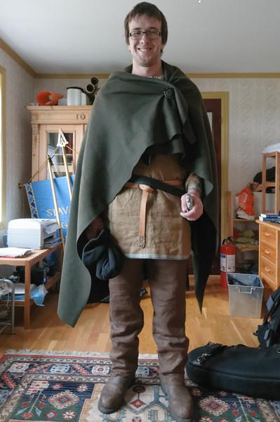 Ludwig ging mit den Stavanger Guides als Wikinger. In dieser Verkleidung wird er im Sommer auch Touristen führen.