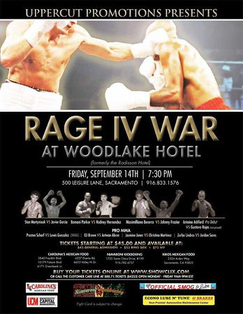 UPPERCUT PROMOTIONS - RAGE 4 WAR