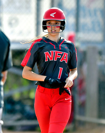 6/8/2019 Mike Orazzi | Staff NFA's Maya Concepcion ?(1) during Saturday's Class LL Softball Final at DeLuca Field in Stratford.