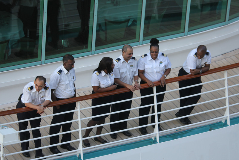 crew in ship beside us on Christmas Day