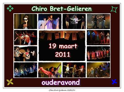 Chiro Bret-Gelieren  ouderavond 19/03/11
