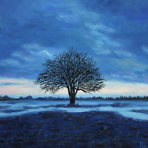 """Serenity"" (oil on canvas) by Dinara Aristo"