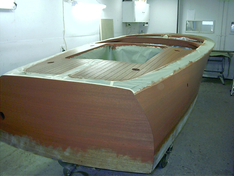 Rear starboard view of stain.