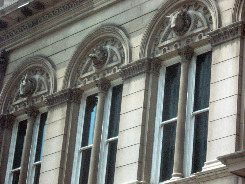 Louisville's dependence on livestock is enshrined within City Hall's facade