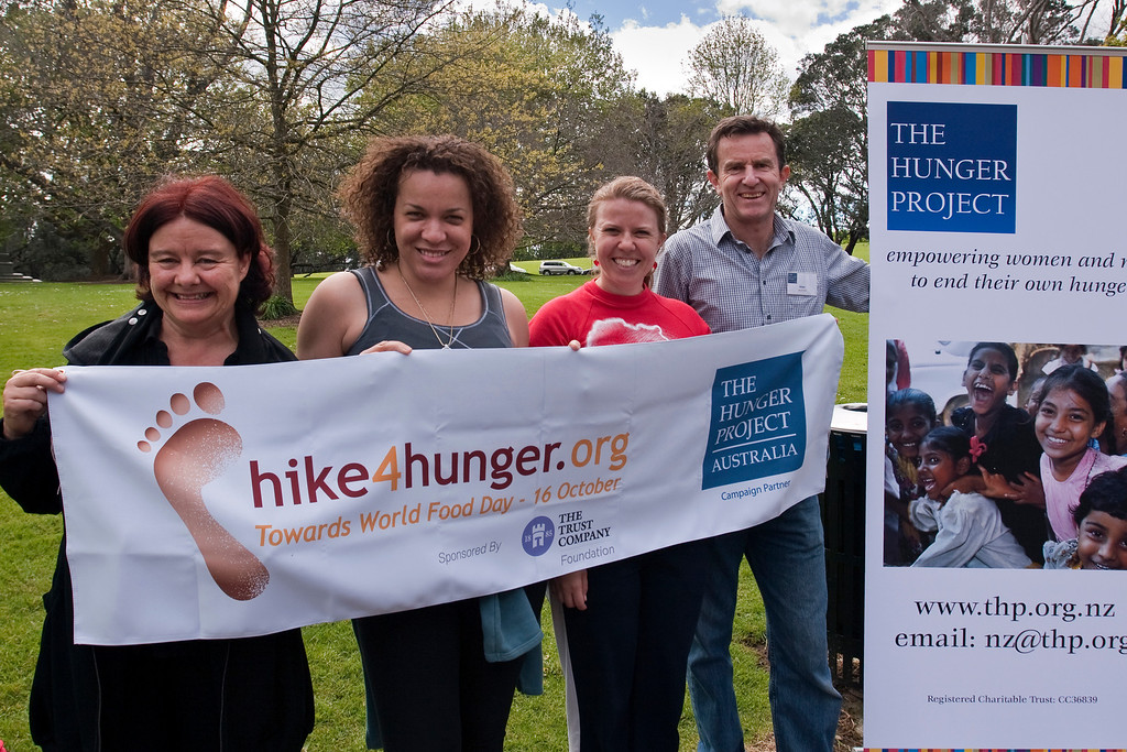 THP Hike_136-1 The Hunger Project Hike4Hunger<br /> The hike management team, Karen, Ada, Charlotte and Allan