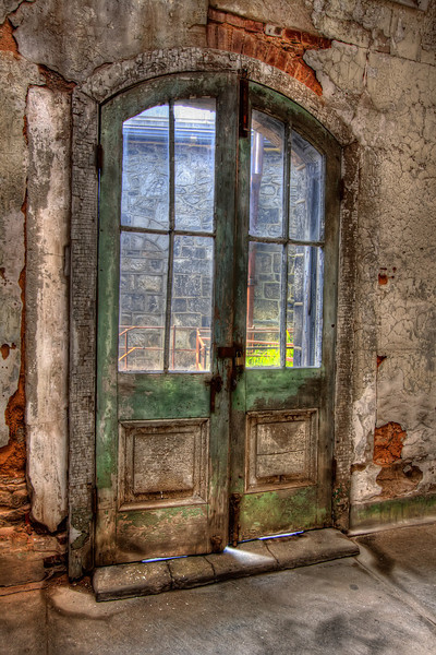 Weathered Penitentiary Doors