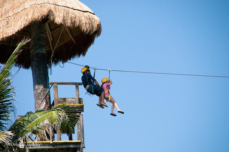Sophia on the zipline
