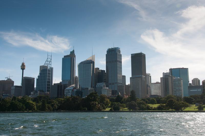 Skyline from Sydney Harbour in Sydney, Australia