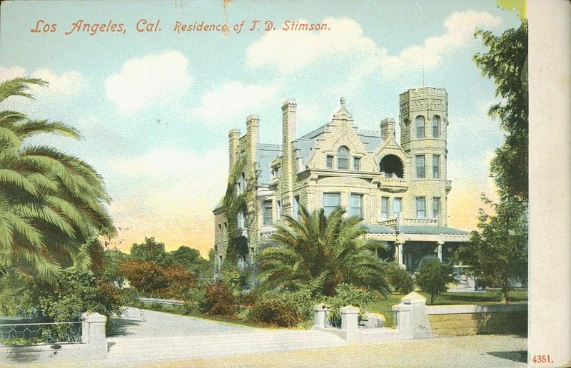 Los Angeles, Cal. residence of T. D. Stimson.