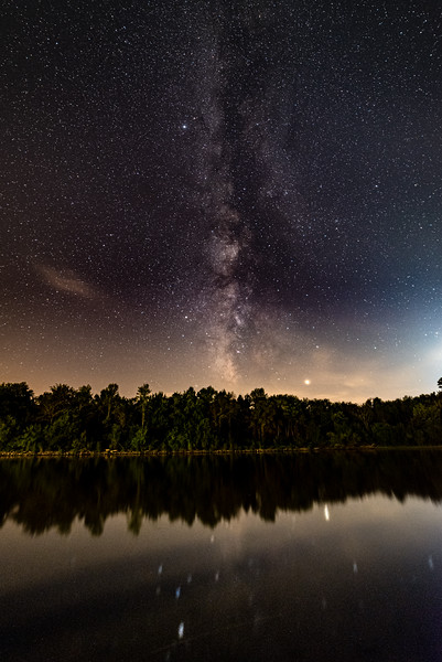 Kaskaskia River under the Milky Way