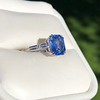 Vintage-Inspired and Contemporary 3.03ct Blue Sapphire Ring (GIA, No-Heat)) 9