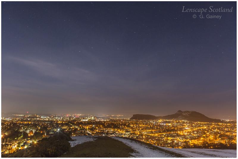 Edinburgh from Blackford Hill after dark