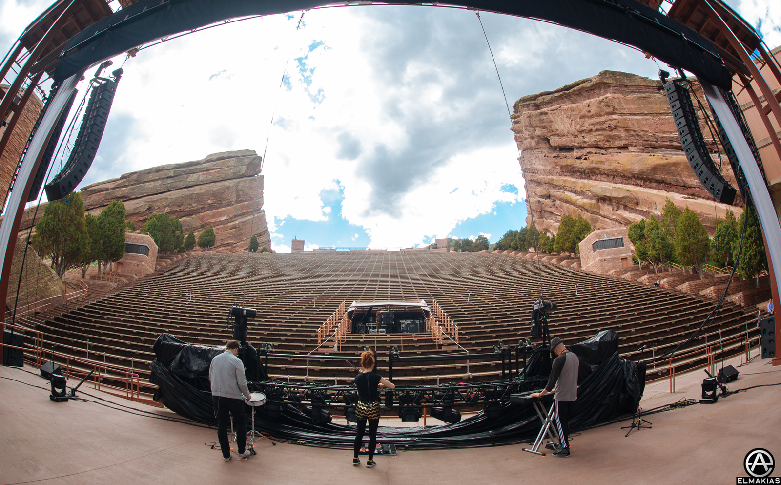 Lindsey Stirling soundcheck at Red Rocks Amphitheater in Colorado by Adam Elmakias