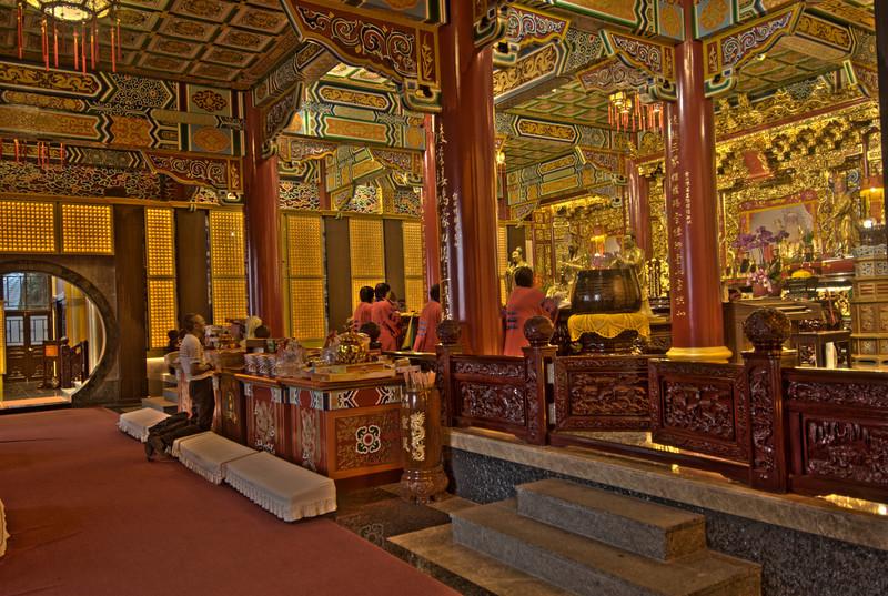 Details inside Zhinan Temple - Taipei, Taiwan