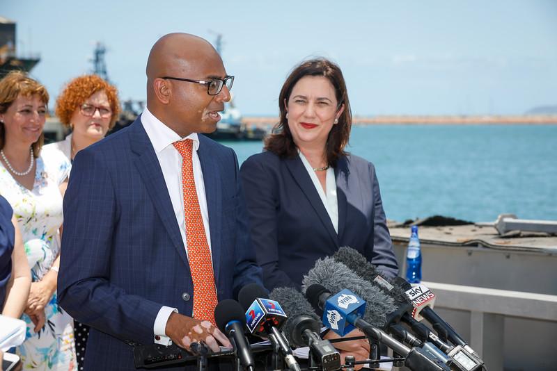 06 December 2016 - Townsville, Qld - Adani Carmichael coal mine announcement in Townsville.  Adani Australia CEO Jeyakumar Janakaraj during a media conference - Photo: Cameron Laird (Ph: 0418 238811 - cameron@cameronlaird.com)
