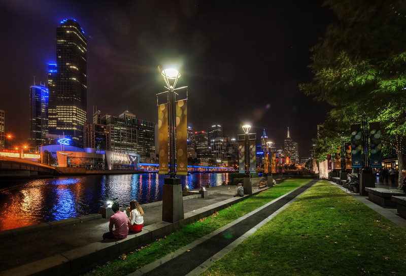 """Enjoying the Melbourne Skyline Here's another photo from our amazing Melbourne photowalk. I really enjoyed walking up and down this area along the river. It felt like one of the most """"walkable"""" and scenic downtown areas I've ever encountered. It reminded me a little of Zurich in that way.I stayed over in The Olsen hotel, which is one of the """"Art Series"""" hotels… a very cool idea where the entire hotel is themed after a certain artist. They have a few different hotels, and next time I might try to stay a little closer in by the location where I took this shot.- Trey RatcliffClick here to read the rest of this post at the Stuck in Customs blog."""