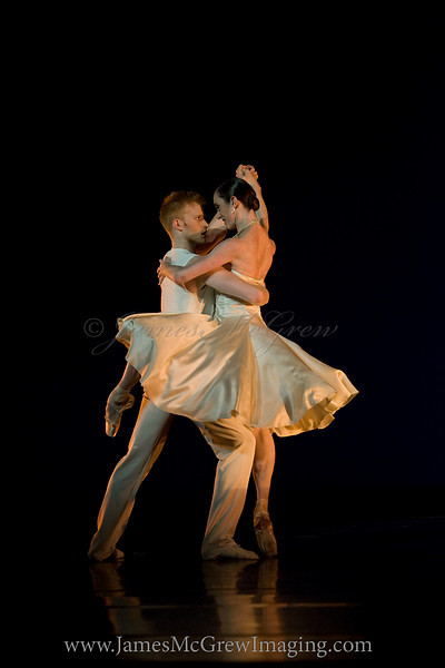 "OBT Soloist Adrian Fry and Principal Dancer Alison Roper in Trey McIntyre's ""Like a Samba"""