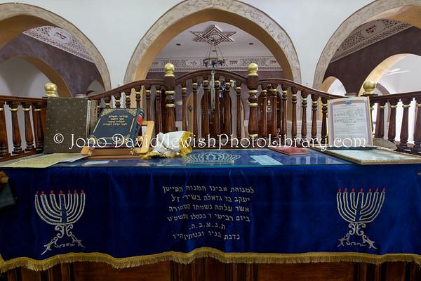 TUNISIA, Djerba, Hara Kebira. Synagogue Rabbi Shalom (3.2016)