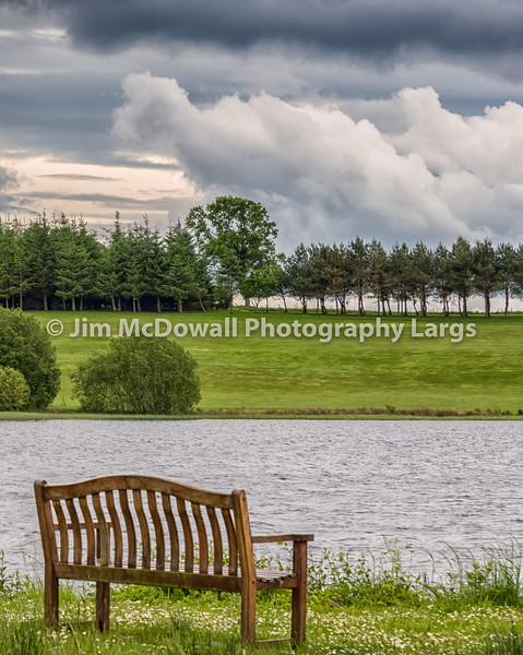 Piperdam Lake and an isolated chair in Scotland Before it rained!