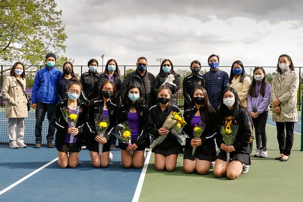 Girls Tennis Senior Night 4/22/21