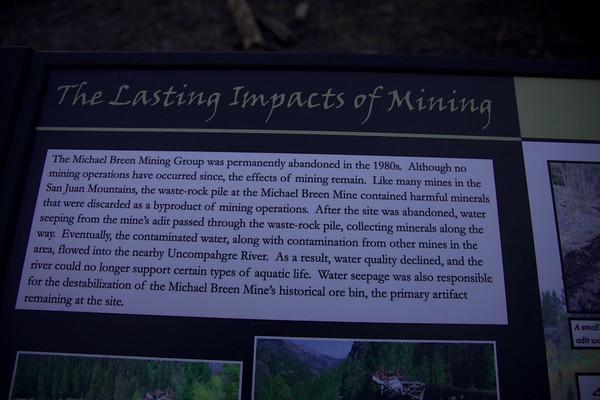 Mineral Creek, Engeneer Pass, Schafer Gulch & Golconda Mine