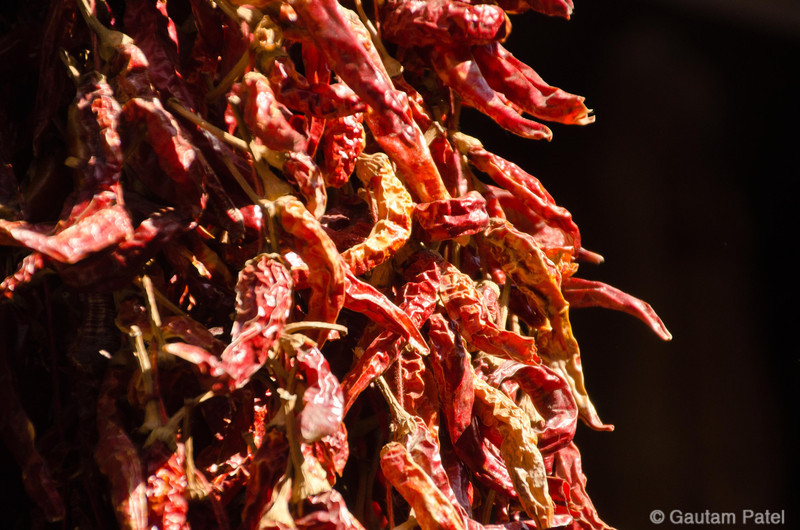 Spice Market, Istanbul. Red chillies. : Turkey June 2012