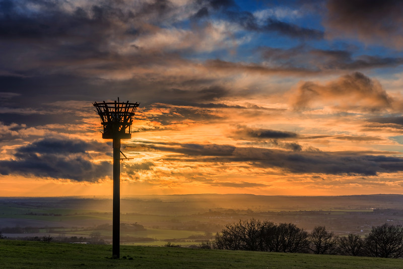 Dunstable Downs,  Bedfordshire Sunset