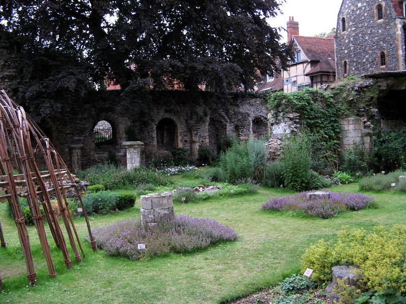 A garden kept by the monks