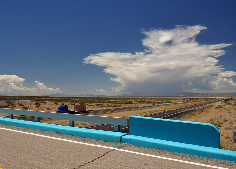 I-8 east of Tucson.  It must be into NM, as the overpasses are painted blue.