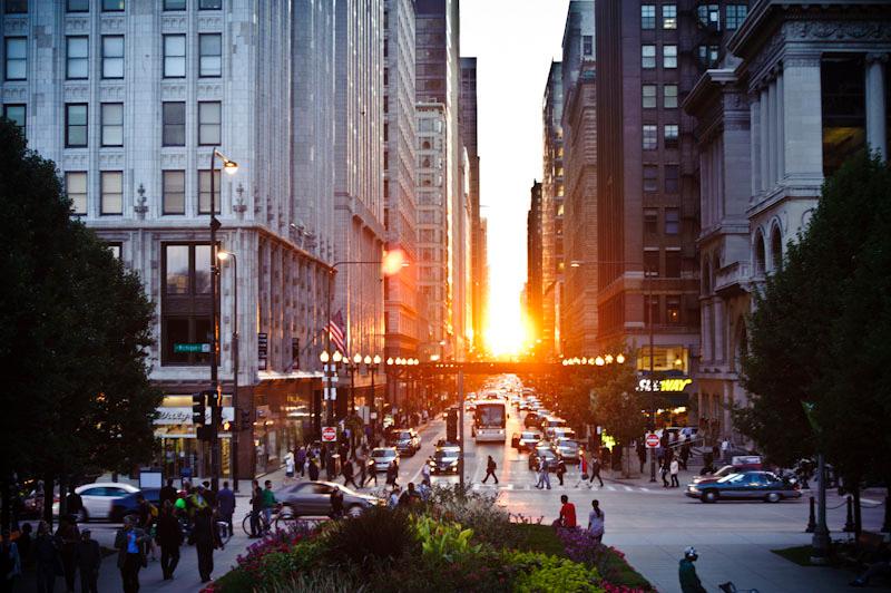 Chicagohenge on Washington St.