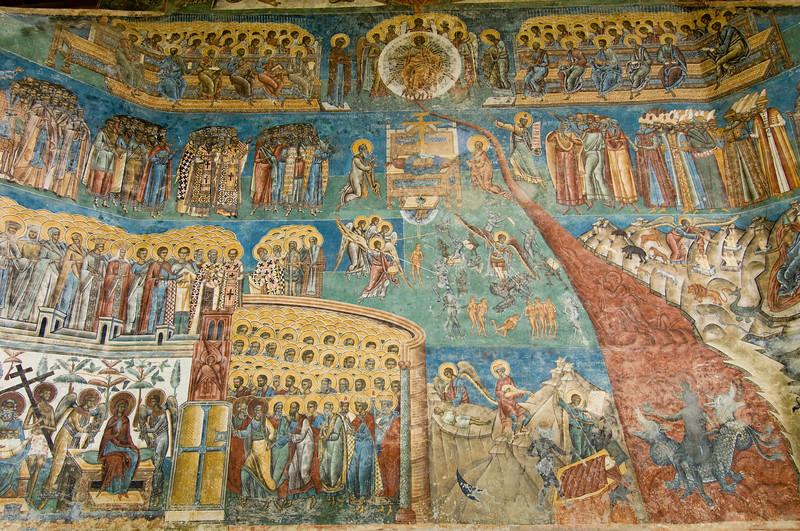 "Voronet Monastery, "" Last Judgement "" , Southern Bucovina, Molda"