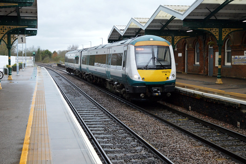170272 Arrives on a service to Norwich.