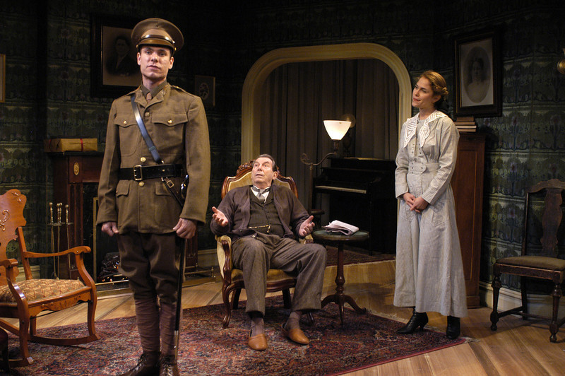 Aaron Krohn, Richard Easton and Jenny Strassburg in ECHOES OF THE WAR: TWO SHORT PLAYS by J.M. Barrie  Photo: Richard Termine