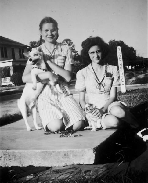 Maria Jacob with Trixie, Peggy Albritton