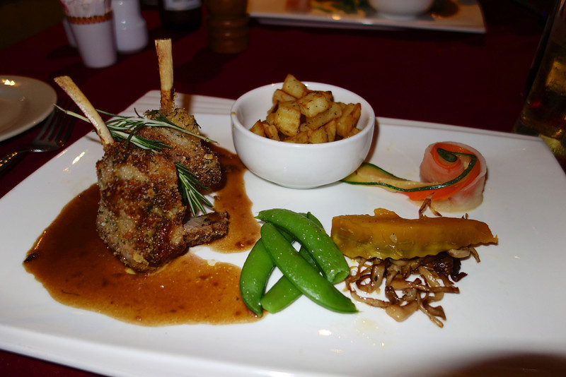 Lamb. Eating at Restaurant Bordeaux, Pattaya, celebrating 21 years together