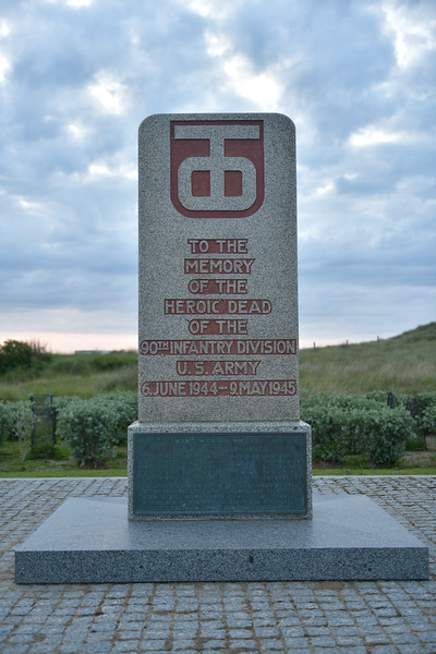 Monument to the 90th Infantry Division at Utah Beach