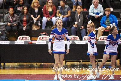 10-27-2018 Thomas S. Wootton High School at MCPS D1 Cheerleading Championship at Montgomery Blair High School, Photos by Jeffrey Vogt Photography