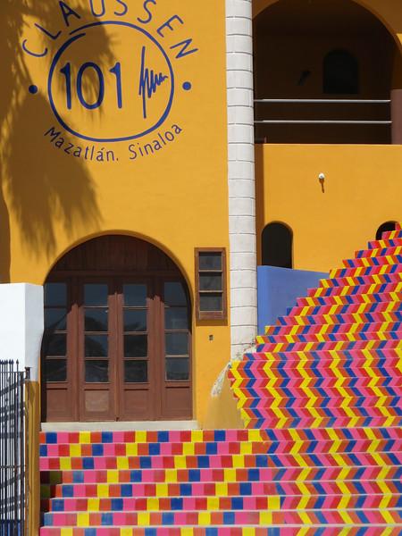 Colorful stairs -  Mazatlan, Mexico