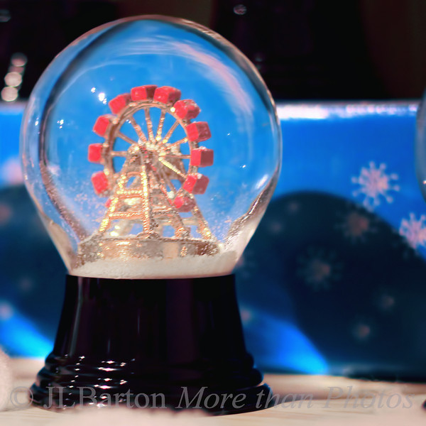 Vienna in a snow globe