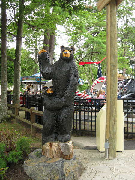 Bear statue.