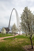 Arch in Spring, St. Louis Missouri.